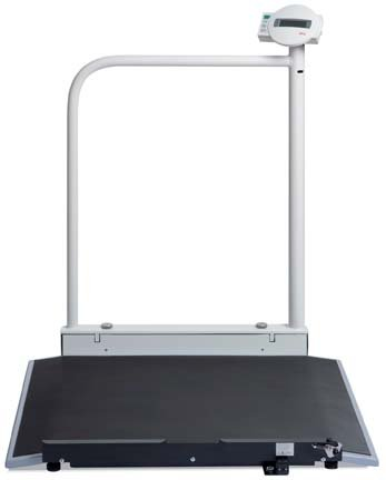 Seca 676 Electronic Wheelchair Scale with Hand Rail & Castors (Seca Handrail Scale)