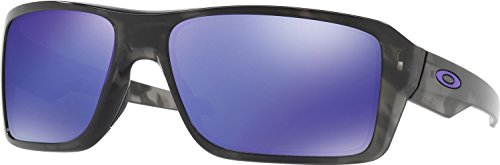 Oakley Men's Double Edge Non-Polarized Iridium Rectangular Sunglasses, Matte Black Tortoise, 66 - Tortoise Black Oakley