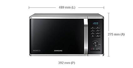 Microondas SAMSUNG mg23 K3515aw Capacidad de 23 L 1250 W blanco ...