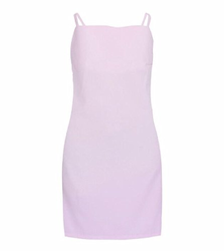 Back Dress Women Coolred Beach Open Pink Bowknot Camisole Wear Dress y0axnaPO7