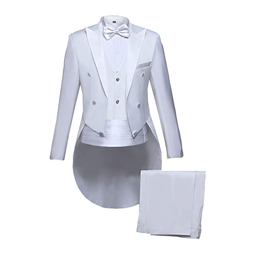 - MAGE MALE Men's Tailcoat Suit Formal Slim Fit 5-Piece Suit Dinner Jacket Swallow-Tailed Coat Tuxedo