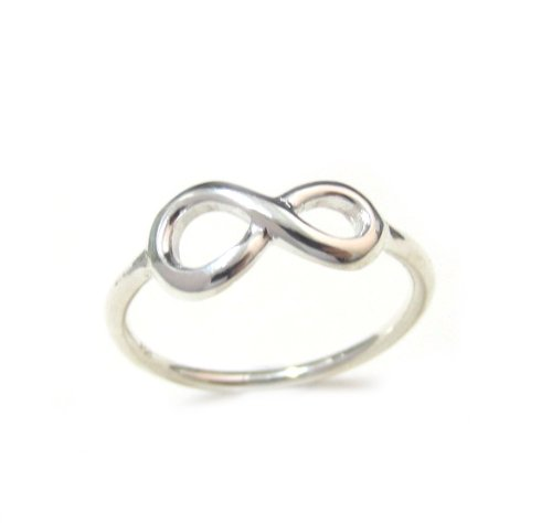 Amazon Sterling Silver Figure 8 Infinity Ring Size 4 5 6