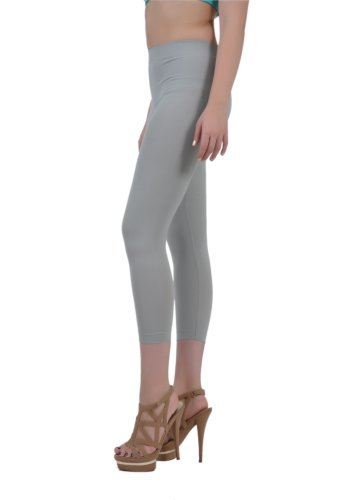 Soho Apparel Girls Seamless Lady Capri Legging SG-27-Gray Nylon Spandex