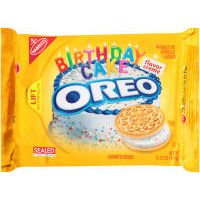 Sandwich Creme Cookies Case (Nabisco Oreo Golden Birthday Cake Flavor Creme Sandwich Cookie, 15.25 Ounce -- 12 per case.)