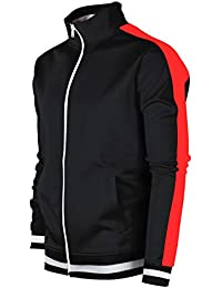 0460130c8a77 Screenshotbrand Mens Hip Hop Premium Slim Track Jacket - Side Taping