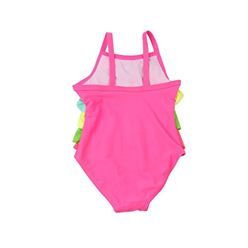 Yober Baby Girl One-Piece Swimsuit Falbala Condole Belt Swimwear