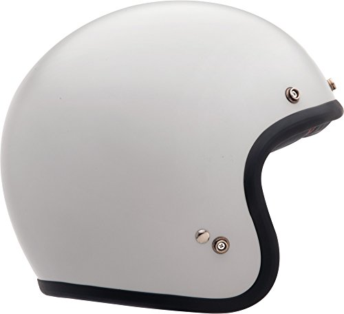 Bell Custom 500 Open-Face Motorcycle Helmet(Solid Vintage White, Small)