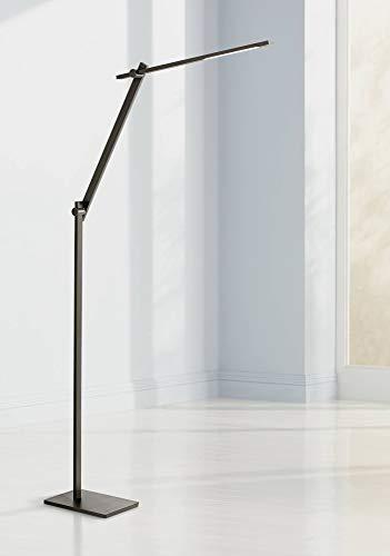 Barrett Modern Floor Lamp LED Adjustable Anodized Black Metal Touch On Off for Living Room Reading Bedroom Office - Possini Euro Design