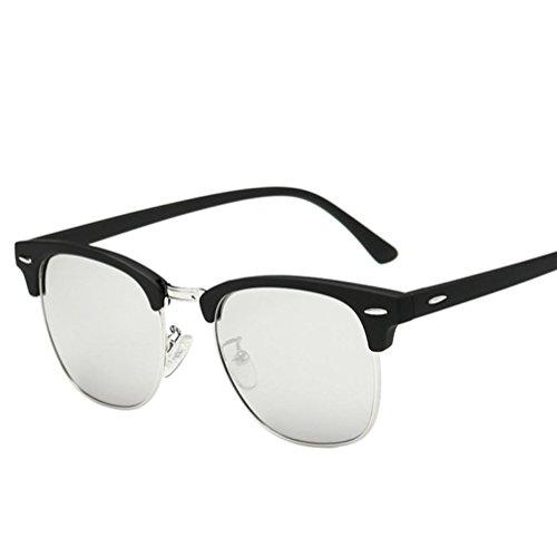 Siviki Men Women Vintage Square Frame Mirrored Sunglasses Eyewear Outdoor Sports Glasse UV400 (Multicolor - Sunglasses For Men K