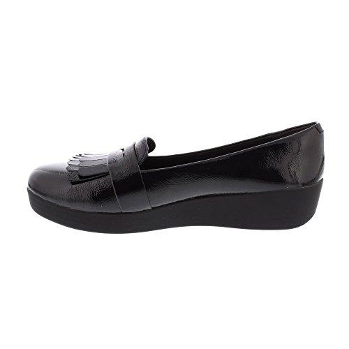 Navy Mocassins Midnight Sneakerloafer Fringey FitFlop Loafer Femme pTzUwU