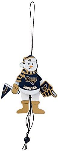 NFL St. Louis Rams Wooden Cheering Snowman Ornament