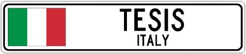 Custom Street SignTESIS, ITALY - Italy Flag City Sign - 3x18 Inches Aluminum Metal Sign