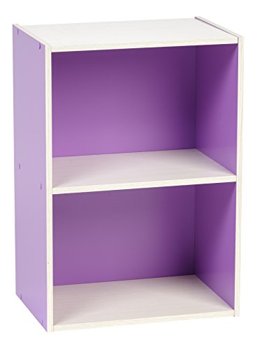 Short Wall Cabinet - IRIS 2-Tier Wood Storage Shelf, Purple