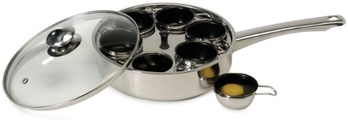 Excelsteel 18/10 Stainless 6 Non Stick Egg - Steel Poacher Egg Stainless Steel
