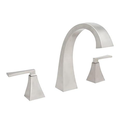 mirabelle mirvl3rt vilamonte deck mounted roman tub faucet trim brushed nickel