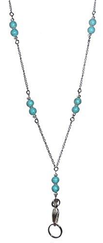 (Hidden Hollow Beaded Chain Lanyard Necklace, 34
