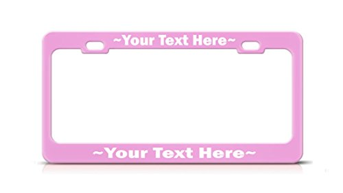 Custom Made SOFT PINK Metal Arial High Quality License Plate Frame