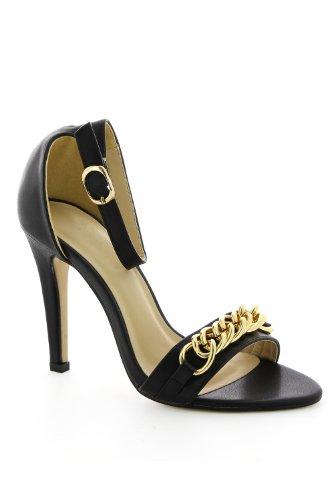 para Sandalias negro Go mujer vestir de Tendance negro Ix5qU