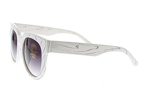 Women's Cat Eye Sunglasses Shades - 100% UV 400 Sun Protection - Impact Resistant Polycarbonate Lenses - White Frame - Tinted - Sunglasses Customized