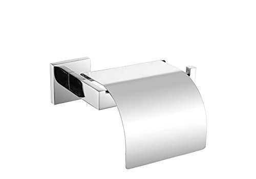 KES SUS 304 Stainless Steel Toilet Paper Roll Holder with Cover Wall Mount Polished Finish, A2571