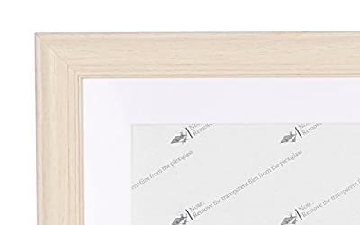 Beyond Your Thoughts 9X12 Picture Photo Frame Real Glass (1 Pack/2 Pack) with Matted for 6X8 Black Color, Table Top and Wall Mounting Display