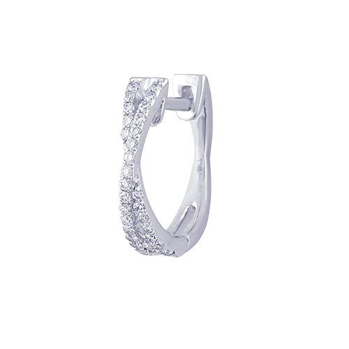 Giantti 14carats Diamant pour femme Dangler Boucles d'oreilles (0.236CT, VS/Si-clarity, Gh-colour)