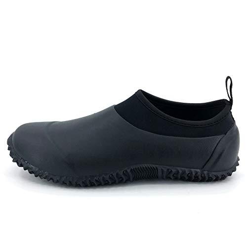 SYLPHID Unisex Waterproof Garden Shoes Womens Neoprene Rain Boots Mens Car Wash Footwear (7.5 M US Women/6 M US Men, Black)