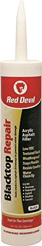 Red Devil 0637 6 Pack 10.1 oz. Blacktop Acrylic Repair Sealant, Black