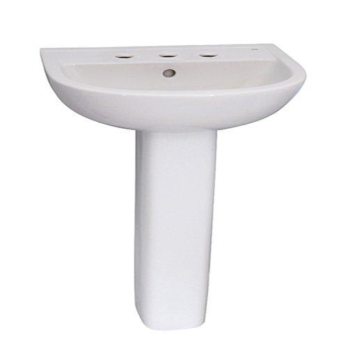 3 compact pedestal lavatory sink