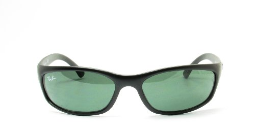 Ray-Ban Sunglasses - RB4115 / Frame: Matte Black Lens: Grey Green