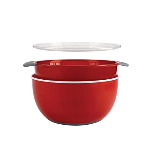 - OXO Good Grips 3-Piece Bowl and Colander Set, Red