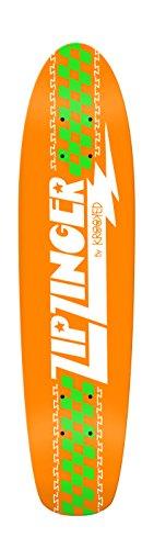 行進演じる位置するKrookedスケートボードクルーザーデッキZip Zingerクラシックオレンジ7.5