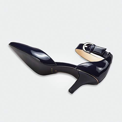 Chaton Fermé Pointu Dark Bout Femmes Sandales Chaussures Casual Noce Pour Court Dames Blue Talons XARAqE