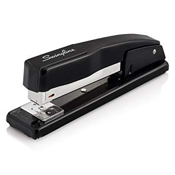 3 Sets of Swingline Black Commercial Desk Stapler, 20 Sheet Capacity, (44401)