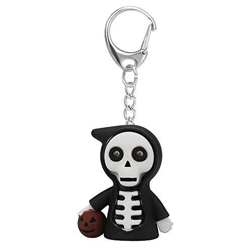Children Toys,Dartphew 1Pcs [ Halloween Death Cartoon Keychain ] - with LED Light Sound Mini Gift for Kids Baby - Battery included(PVC) ()