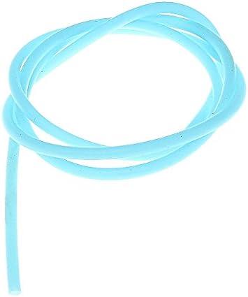 Blau Perlin KAUTSCHUKSCHLAUCH Band HOHL Kautschukband 10 Meter 2mm Kunstleder SCHMUCK Kette