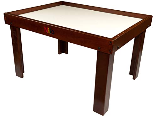- NILO N34D Table Compatible with Lego and Duplo - Dark Mahogany