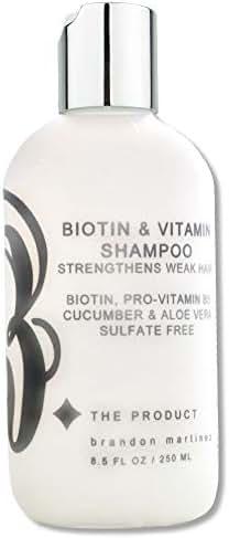 Biotin Hair Growth Shampoo-Biotin Vitamin Shampoo For Hair Loss And Thinning Hair, Sulfate Free Aloe Vera Cucumber Extract With Pro Vitamin B, B. the product 8.5oz.