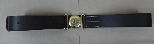 warreplica WWII US Officers Leather Garrison Belt - Reproduction (Garrison Buckle)