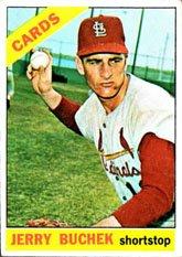 1966 Topps Regular (Baseball) Card# 454 Jerry Buchek of the St. Louis Cardinals VG Condition