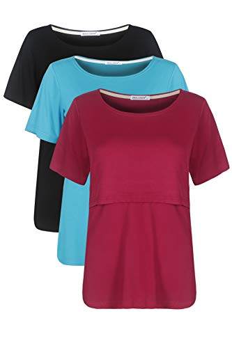 4f0a86825d8 Smallshow Women's Nursing Tops Short Sleeve Breastfeeding Clothes ...