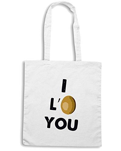 T-Shirtshock - Bolsa para la compra TDM00114 i love you Blanco