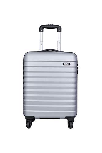 Safari Sonic 55+65 cms Anti Scratch Polycarbonate Hardsided Checkin Luggage (Silver, 65)