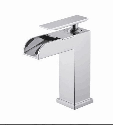 Washbasin 1 Tap (Waterfall faucet copper stainless steel wash basin faucet , 1)
