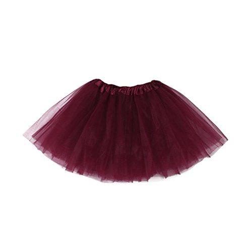 - Goodlock Toddler Kids Fashion Skirt Cute Baby Girls Solid Tutu Ballet Skirts Fancy Party Skirt (Wine, Age:3-10T)