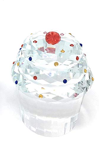 Cup Cherry Red Jumbo - Simon Design Crystal Cupcake with Cherry on Top # SD226051