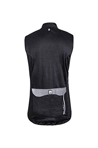 Santini Fashion FS54275GUARD2 - Santini Guard 2.0 Water resitant Gilet Black/White Medium Negro