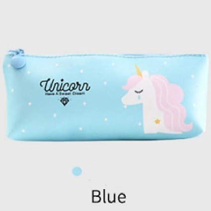 ASCZFAS bolsa de lápiz Unicornio Estuche de Lápices Kawaii Útiles Escolares Pegasus Papelería Regalo Lindo Rosa Azul Caja de Lápiz Papelería azul: Amazon.es: Oficina y papelería