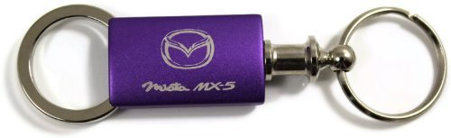 Mazda Miata Purple Valet Key Fob Authentic Logo Key Chain Key Ring Keytag Lanyard