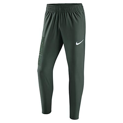 Nike Men's Michigan State Spartans Dri-Fit Hyper Elite Performance Game Pants - Green/White (Medium)